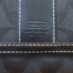 Coach black wallet, excellent shape